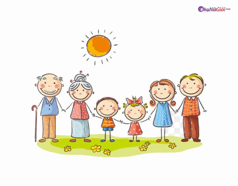 vẽ tranh về đề tài gia đình đẹp và ý nghĩa