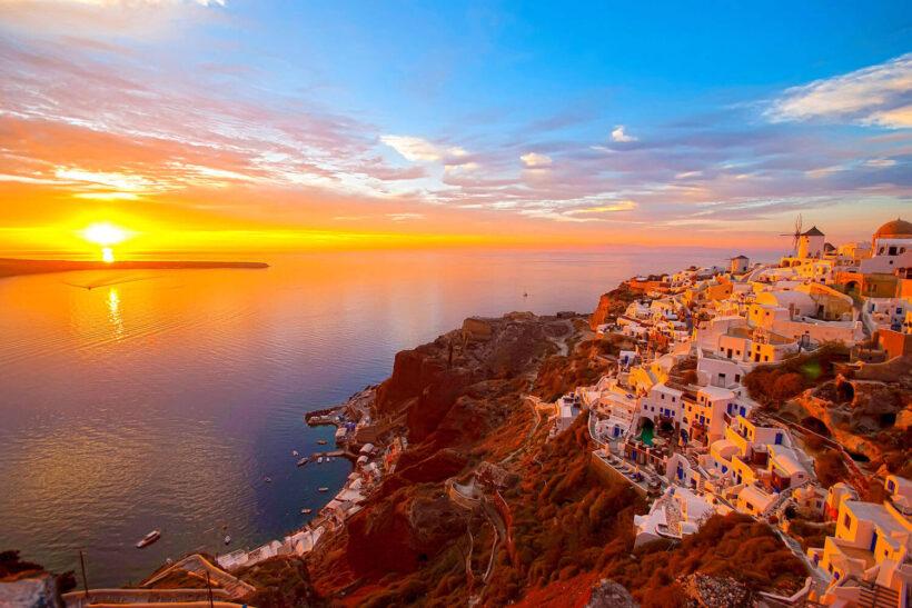 canh hoang hon tai Santorini