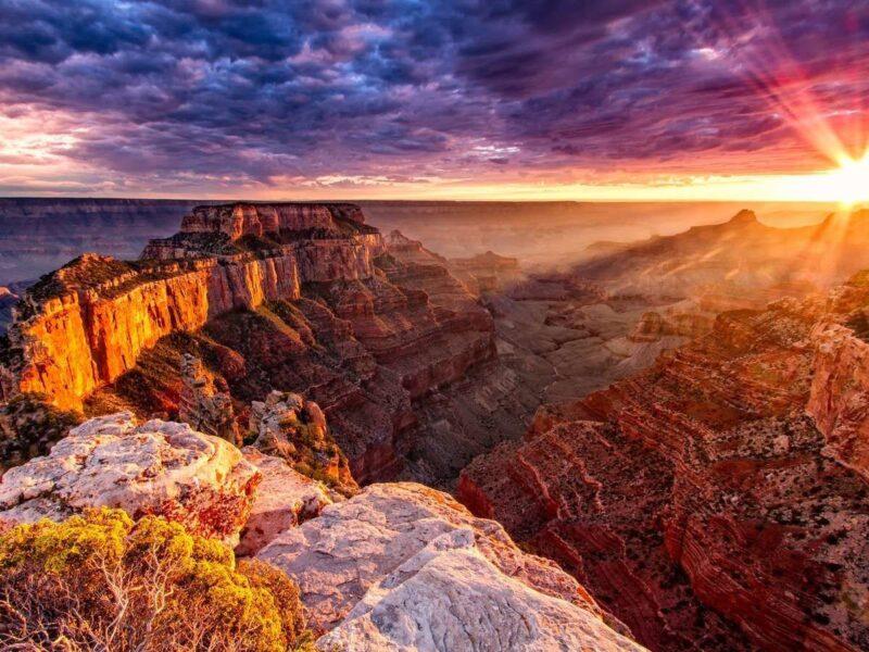 hinh anh binh minh dep tai Grand Canyon