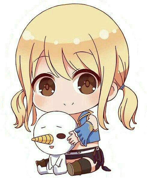 hinh anime chibi girl dang yeu