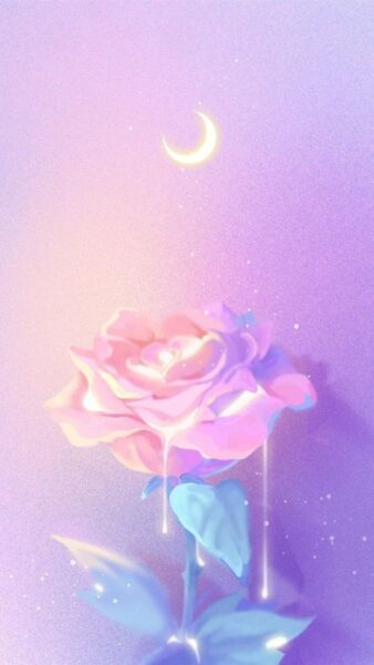 hinh nen android hoa hong duoi trang