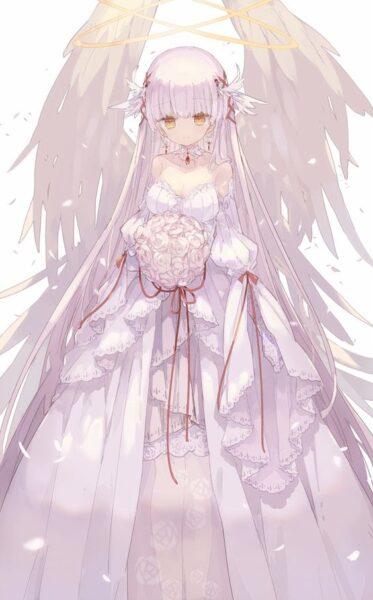 ảnh anime thiên thần nữ