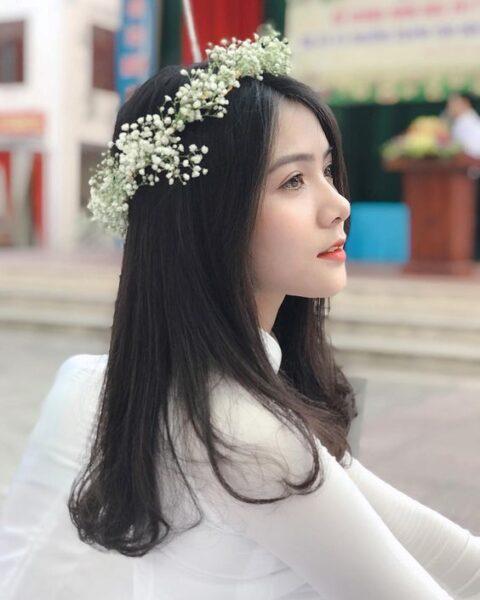 ảnh gái xinh học sinh việt trong tà áo dài