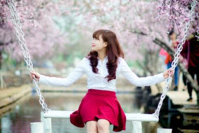 Hình ảnh gái xinh mặc váy ngắn dễ thương, cute và đáng yêu