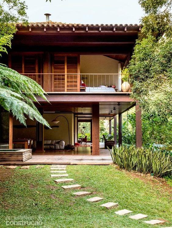 hình ảnh nhà gỗ đẹp thiết kế kiểu hiện đại