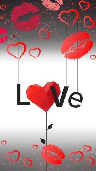 ảnh chữ love và những nụ hôn ngọt ngào