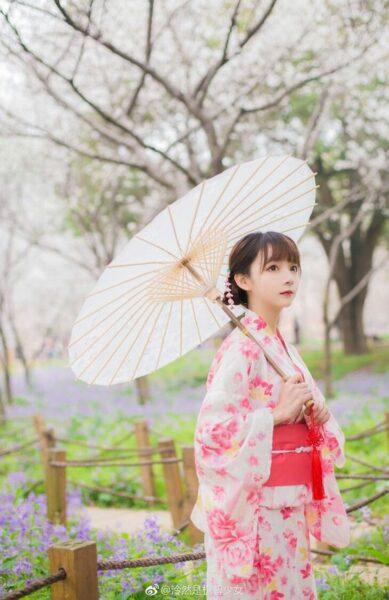 ảnh gái xinh mặc kimono nhật bản