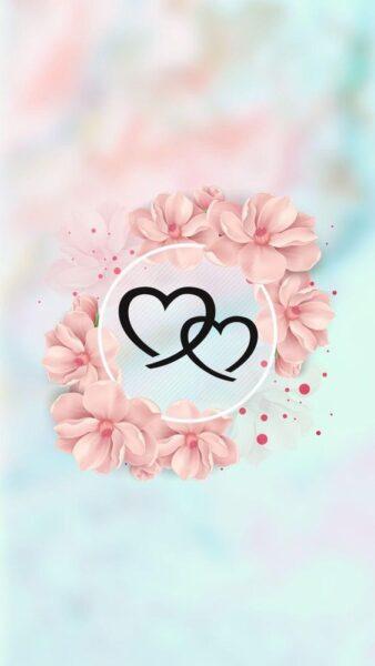 ảnh hoa và trái tim lãng mạn nhẹ nhàng dành tặng người yêu ngày valentine