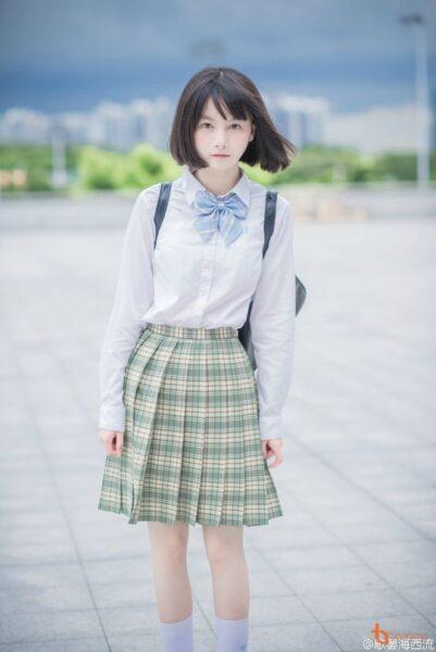 gái xinh nhật bản mặc đồng phục