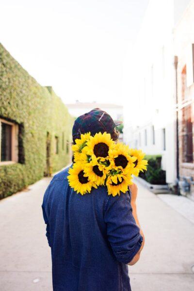 hình ảnh bó hoa hướng dương ý nghĩa dành tặng người ấy