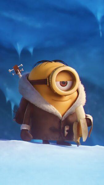 hình ảnh minion cute đi trên tuyết cho android
