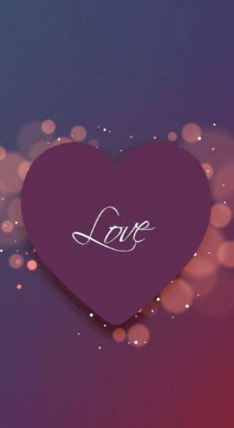 hình nền chữ love giữa trái tim tình yêu