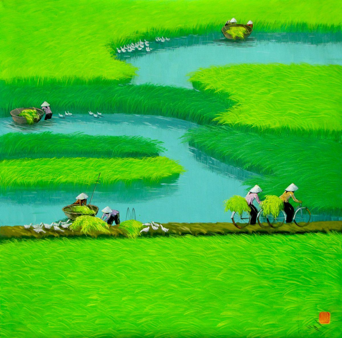 Vẽ tranh de tài phong cảnh quê hương lớp 9