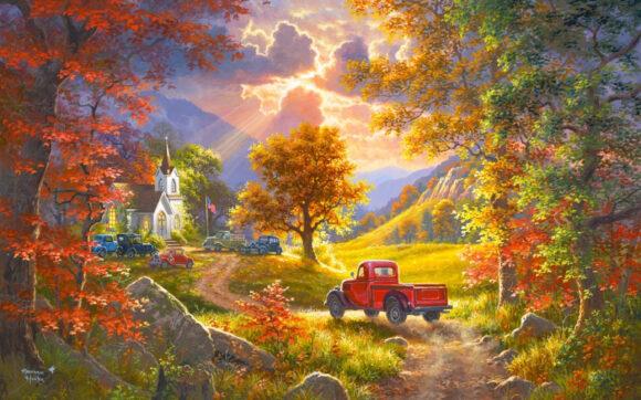 Vẽ tranh về đề tài phong cảnh quê hương đẹp đơn giản nhất