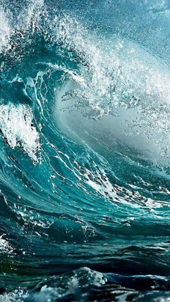ảnh nền sóng biển cuộn trào