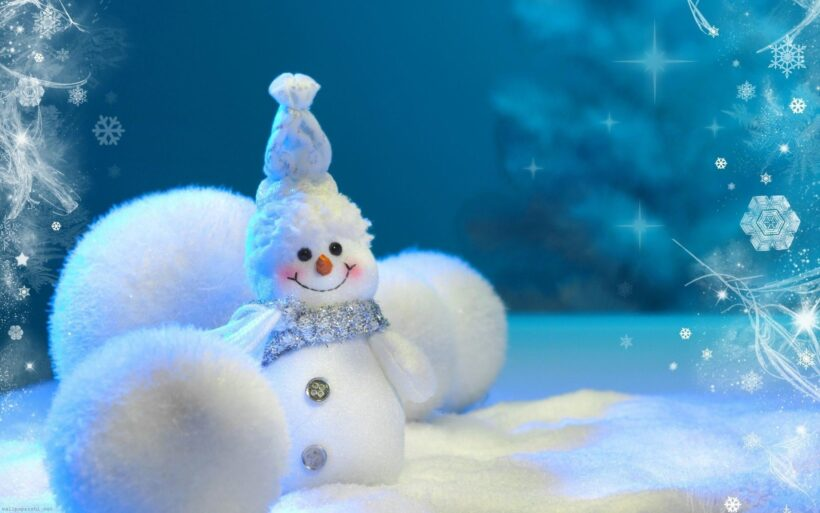 ảnh người tuyết đón noel dễ thương
