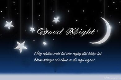 hình ảnh buổi tối đẹp chúc ngủ ngon lãng mạn nhất