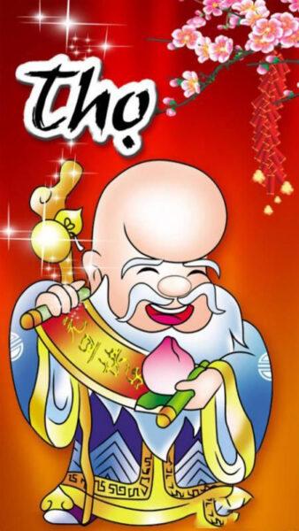 Hình ảnh thiệp chúc mừng năm mới - Thọ