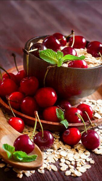 ảnh nền samsung về trái cherry đỏ mọng