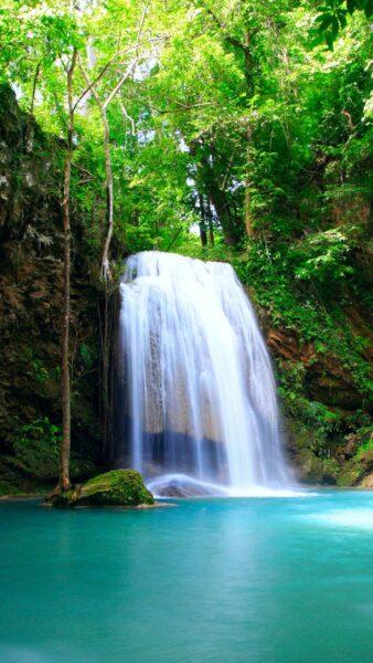 ảnh nền thác nước chảy