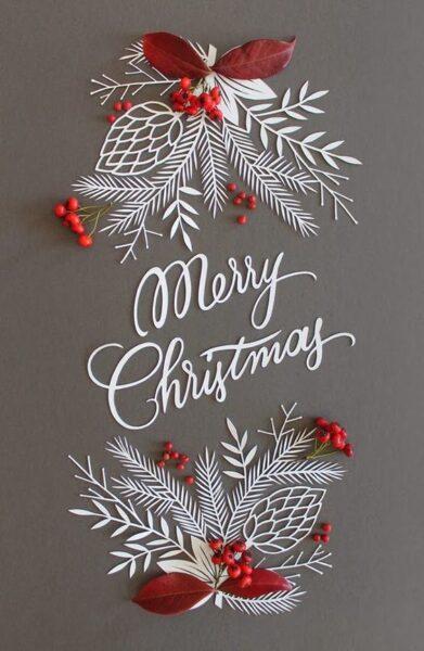 ảnh noel đẹp nhất có chữ merry christmas