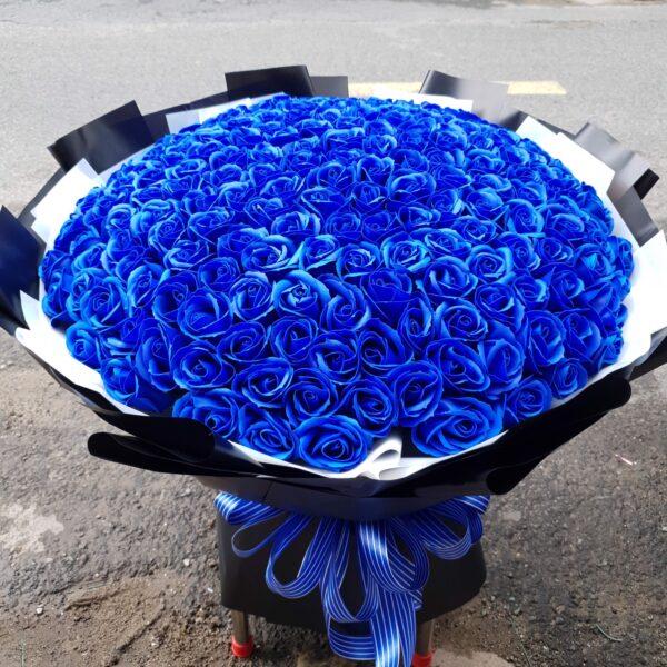 Hình ảnh bó hoa hồng xanh đẹp nhất