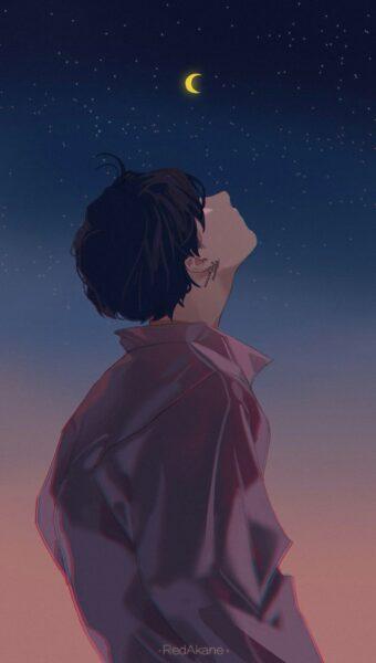 hình nền anime nam buồn nhất