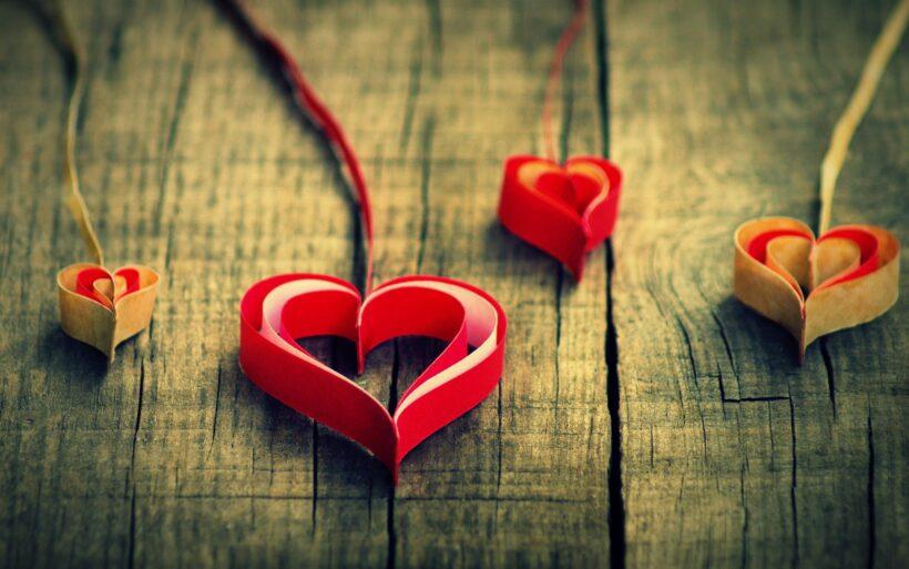 hình nền desktop trái tim đẹp lung linh