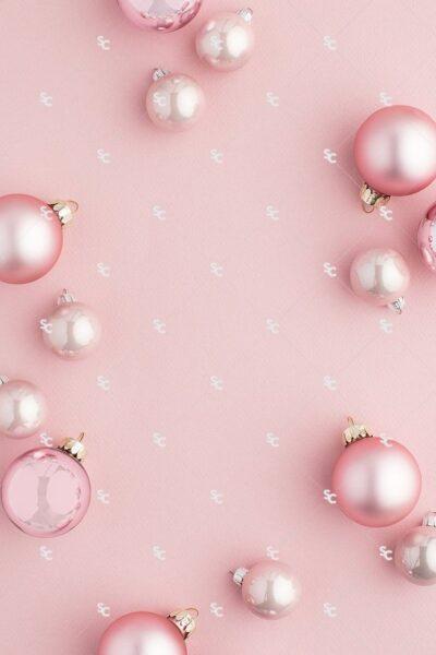 hình nền màu hồng dễ thương hình ngọc trai