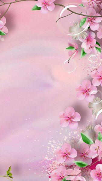 hình nền màu hồng dễ thương về hoa