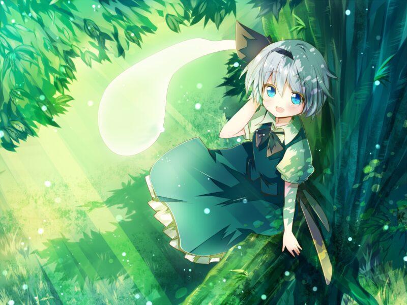 Hình ảnh Anime girl tóc trắng ngắn