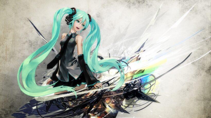 Hình ảnh anime tóc xanh miku đáng yêu