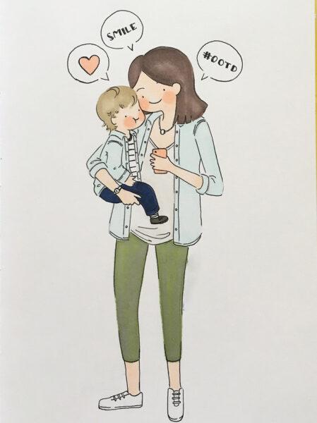 ảnh mẹ và con trai đáng yêu