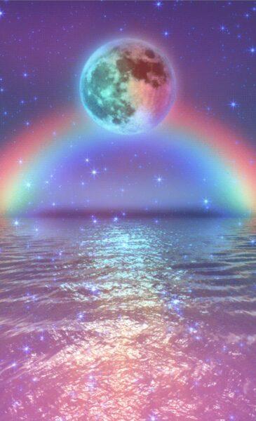 ảnh nước dưới ánh cầu vồng