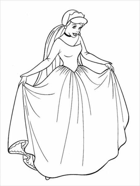 Ảnh tập tô công chúa lọ lem xinh đẹp