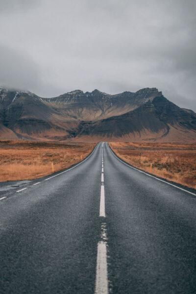 ảnh thiên nhiên buồn về con đường