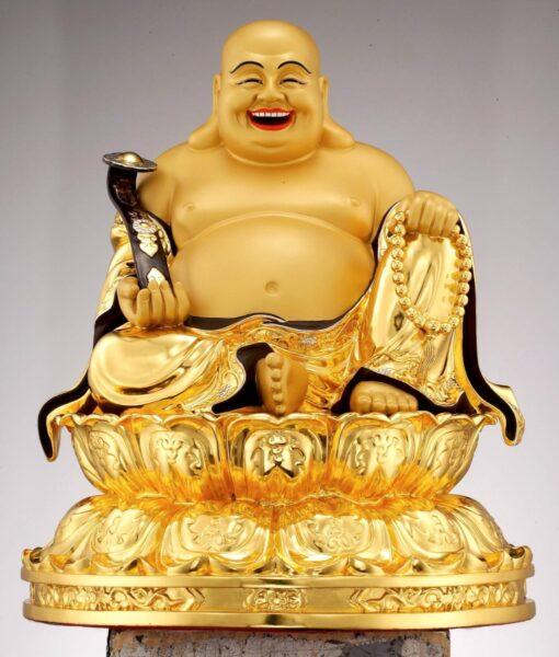 ảnh tượng phật Di Lặc bằng vàng