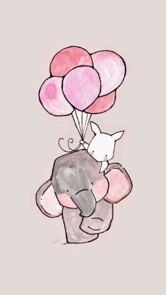 ảnh vẽ chú voi đáng yêu