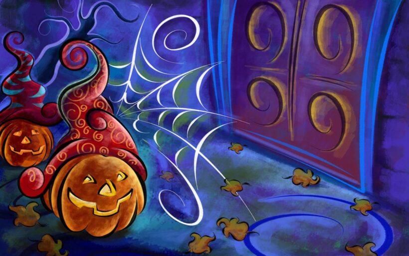 ảnh vẽ đề tài halloween đẹp