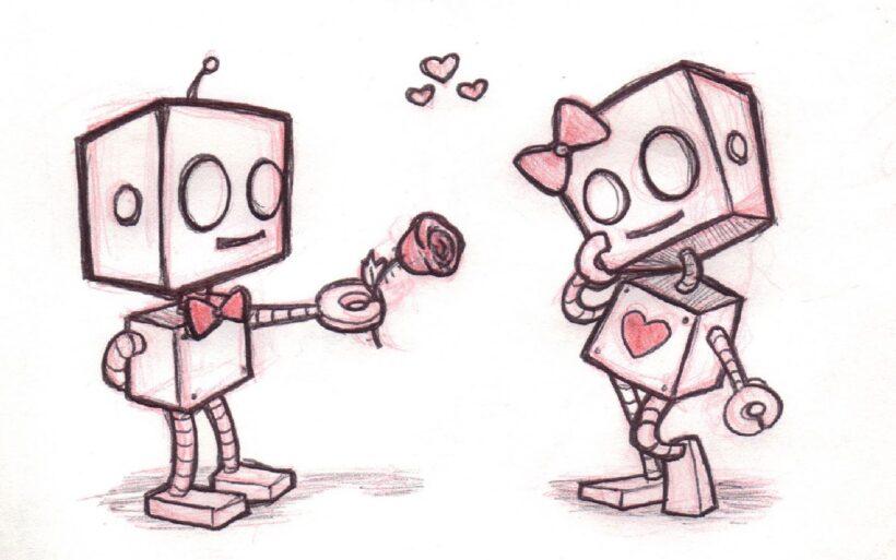 ảnh vẽ robot đáng yêu