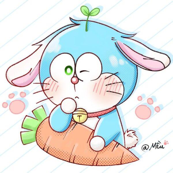 avatar doremon làm chú thỏ và củ cà rốt