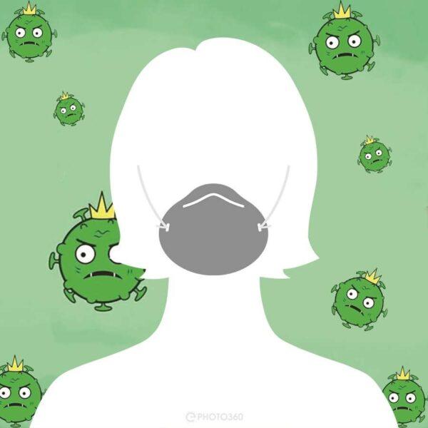 avatar facebook độc nữ đeo khẩu trang