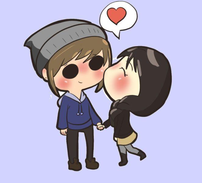 hình ảnh avatar chibi tình yêu cute