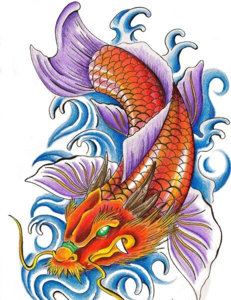 hình ảnh cá chép hóa rồng