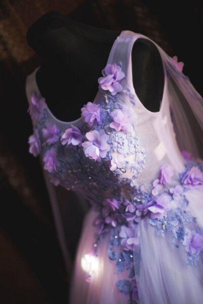 hình ảnh cận cảnh váy cưới 3D