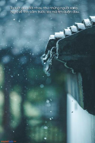 hình ảnh chia tay buồn trong mưa