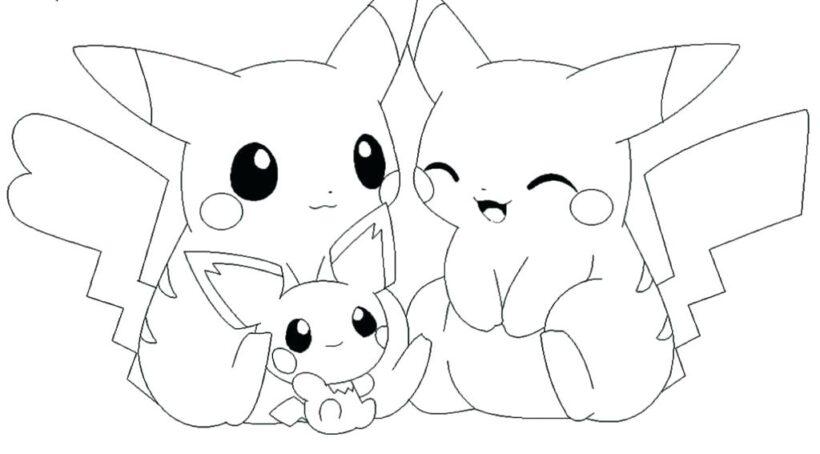 Hình ảnh chưa tô màu pokemon