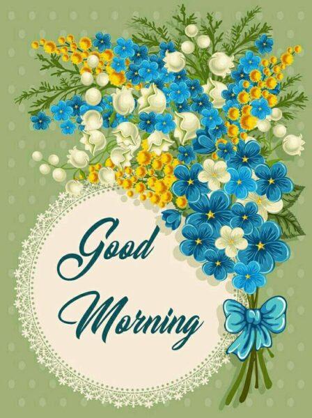 Hình ảnh chúc buổi sáng bằng hoa đẹp