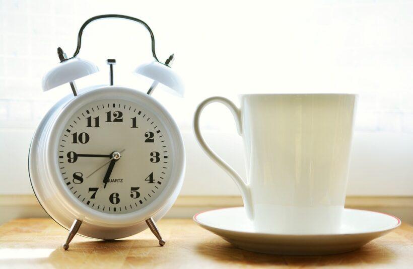 Hình ảnh chúc buổi sáng đồng hồ báo thức