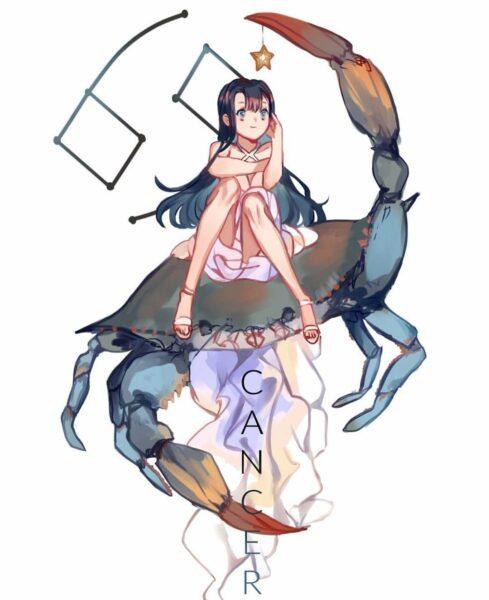 Hình ảnh cung cự giải phiên bản anime